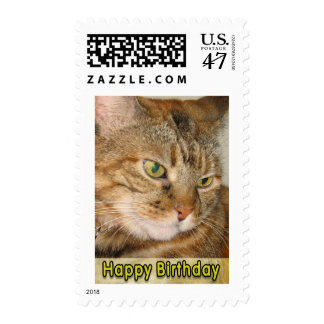 Happy Birthday Cat Postage