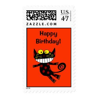 Happy Birthday! (cat) Postage