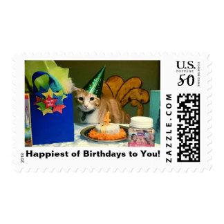 Happy Birthday Cat Stamp - OpieTheMOD