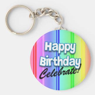 Happy Birthday Celebrate Birthday Keychain