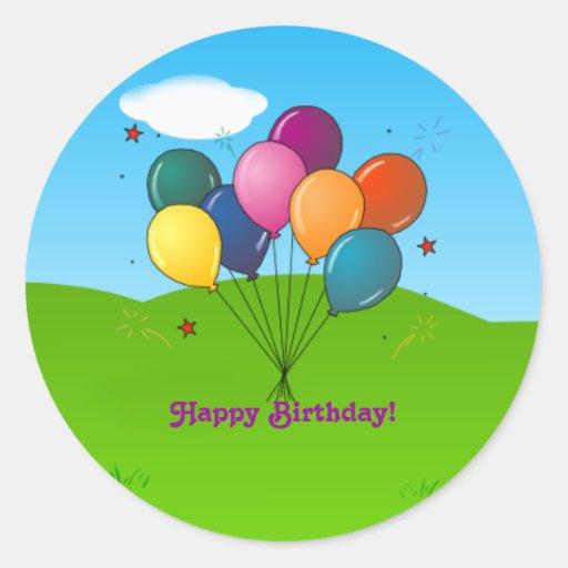 Happy Birthday! Celebration Balloons Sticker  Zazzle