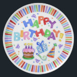 "Happy Birthday Celebration Plate<br><div class=""desc"">Great Gift!!</div>"