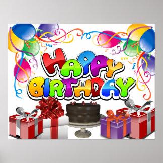 """Happy Birthday! Celebration Poster 14""""x11"""""""