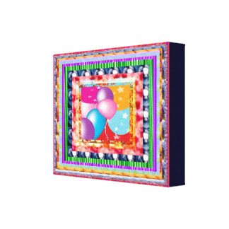 Happy Birthday - Celebrations Decorations Canvas Print