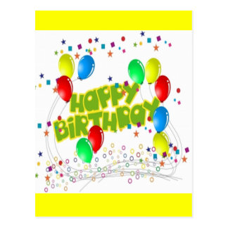 Happy Birthday Celebrations Postcard