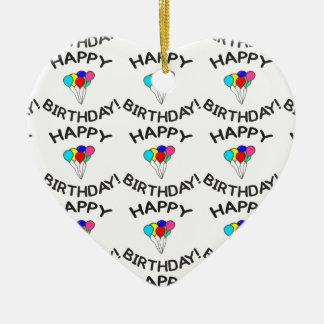 Happy Birthday! Ceramic Ornament