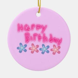 Happy Birthday Ceramic Ornament