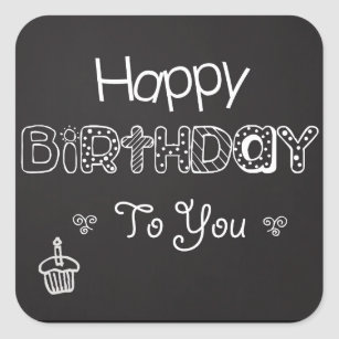 Happy Birthday Chalkboard Sticker