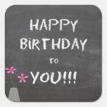 Happy Birthday Chalkboard Stickers