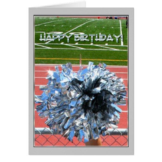 Happy Birthday Cheer pom pom Card