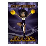 Happy Birthday Cheerleader Greeting Card