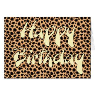 Happy Birthday - Cheetah Skin Card