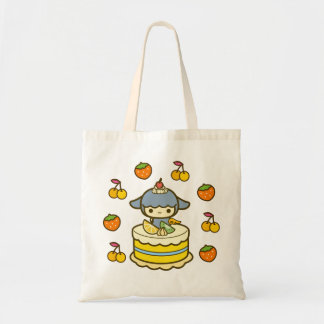 Happy Birthday cherry strawberry cream cake kawaii Tote Bag