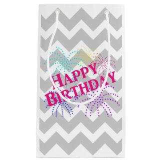 Happy Birthday Chevron Star Fireworks Gift Bag Small Gift Bag