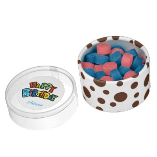 happy birthday chewing gum favors