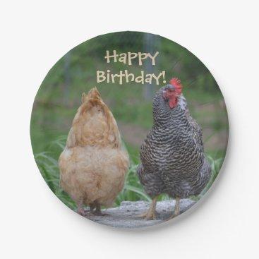 LensMagic Happy Birthday Chicken Paper Plate