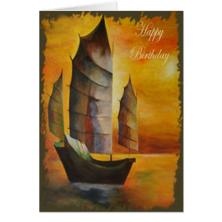 Happy Birthday - Chinese Junk Card
