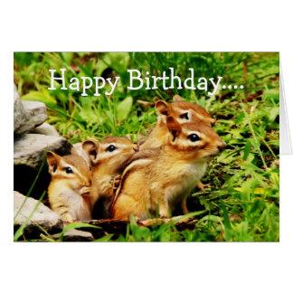 Happy Birthday Chipmunks Group Card