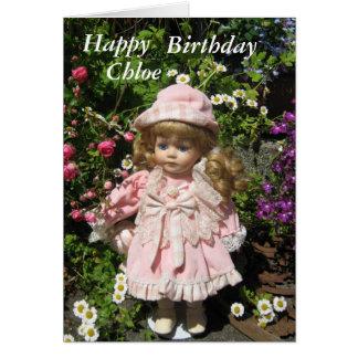 Happy Birthday Chloe Greeting Card