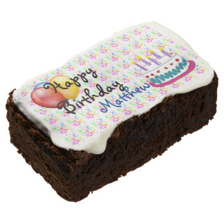 Happy Birthday Chocolate Brownie