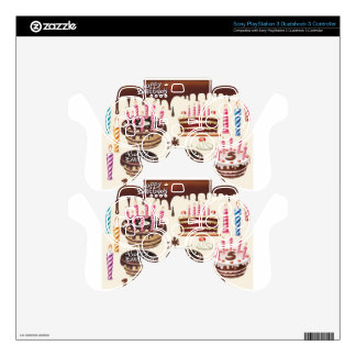 Happy birthday chocolate pack design skin for PS3 controller