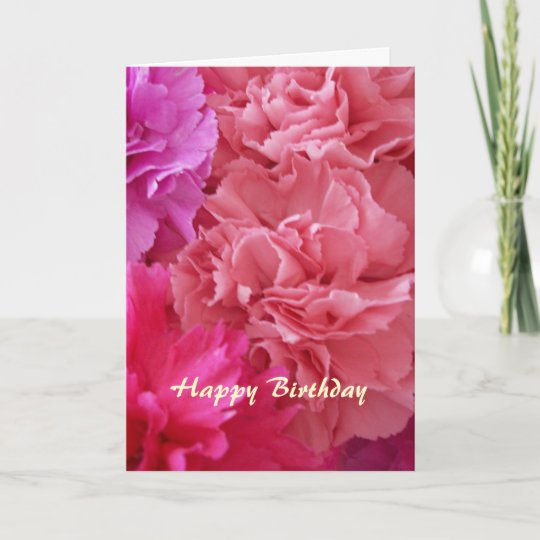 Happy birthday christian card carnations zazzle happy birthday christian card carnations m4hsunfo
