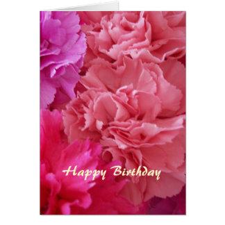 Happy Birthday Christian Card Carnations