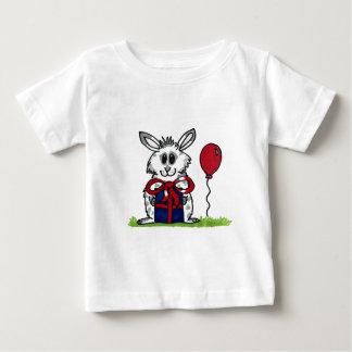 'Happy Birthday!' Chubby Bunny Design Baby T-Shirt