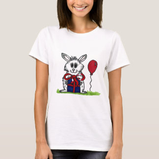 'Happy Birthday!' Chubby Bunny Design T-Shirt
