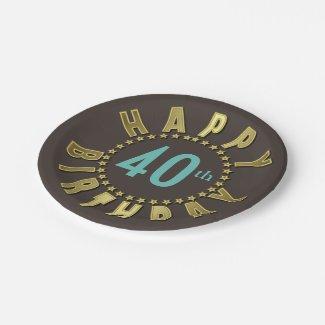 Happy Birthday Circle of Stars Gold CHBX