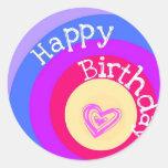 Happy Birthday Circles Stickers