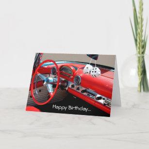 Happy Birthday Classic Car Lover Greeting Card