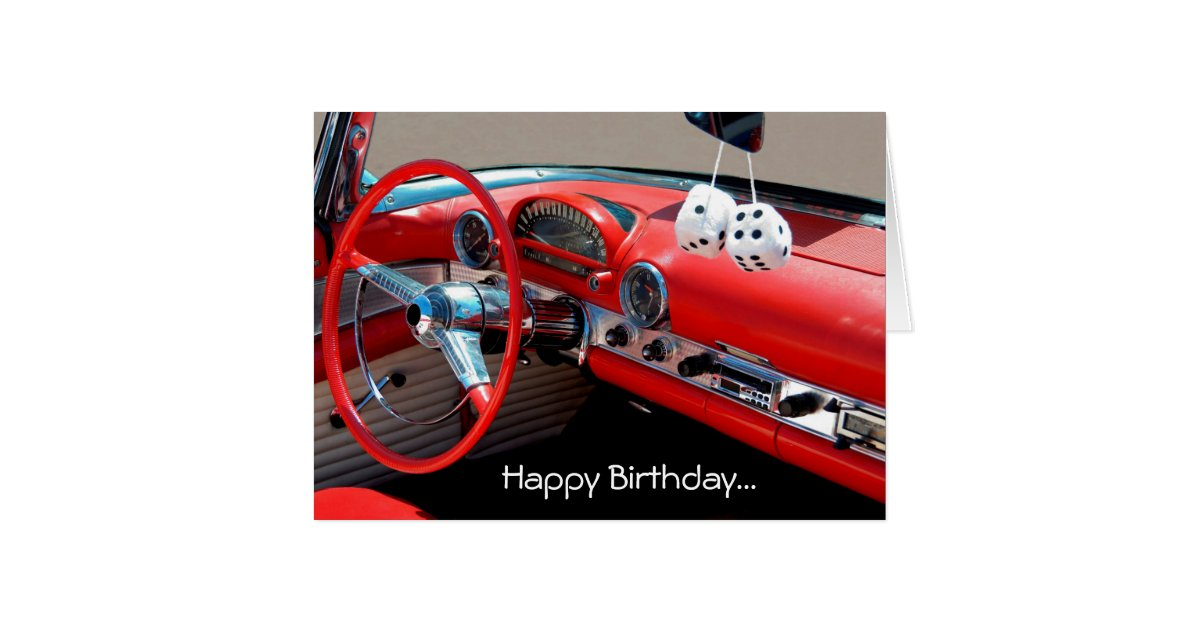 Birthday Wishes For Classic Car Lovers Happy Lover Greeting Card Zazzle