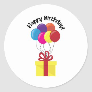 Happy Birthday! Classic Round Sticker