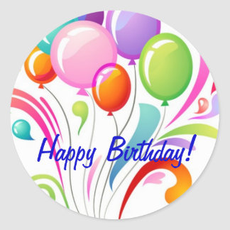 Happy Birthday Classic Round Sticker