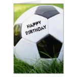 Happy Birthday Classic Soccer Ball Card