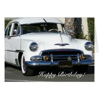 Classic Car Happy Birthday Cards Zazzle