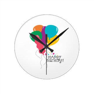 Happy Birthday! Round Wall Clocks