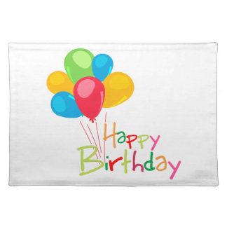 Happy Birthday Cloth Placemat