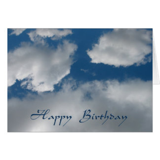 happy birthday clouds card