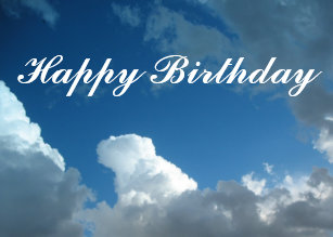 Happy Birthday Clouds Card