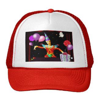 happy birthday clown1 mesh hat