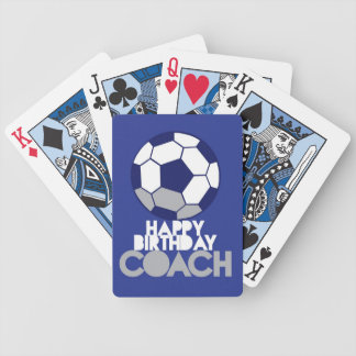 Happy Birthday COACH with soccer ball Bicycle Playing Cards