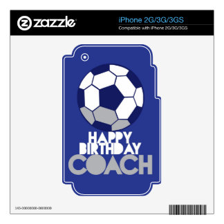 Happy Birthday COACH with soccer ball Skins For iPhone 3GS