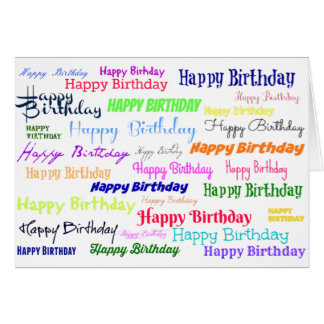 Happy Birthday Collage Card