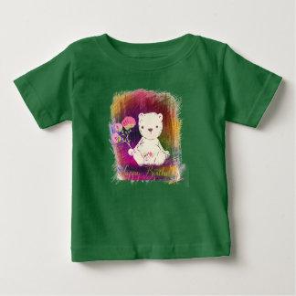 Happy Birthday Colorburst TeddyBear Baby T-Shirt