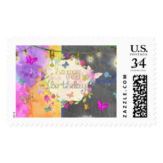 Happy Birthday Colorful Stamp