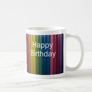 happy birthday colors coffee mug