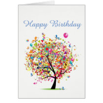 Happy Birthday Colourful Card