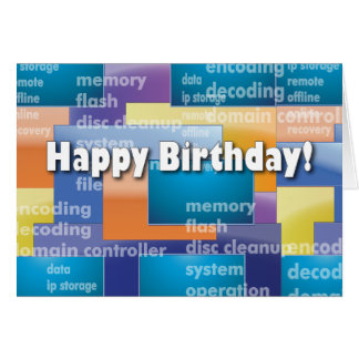 Happy Birthday Computer Geek Card